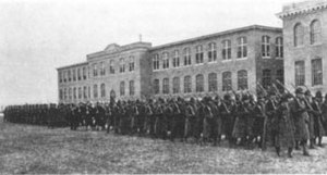 Lowell Technological Institute - World War I era photo of Southwick and Kitson Hall
