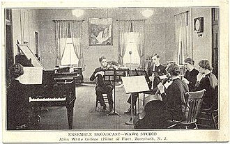 Zarephath, New Jersey - Image: Music ensemble at Alma White College, Pillar of Fire Church (ca. 1920)