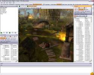 Neverwinter Nights 2 - The Electron toolset being used to create a module.
