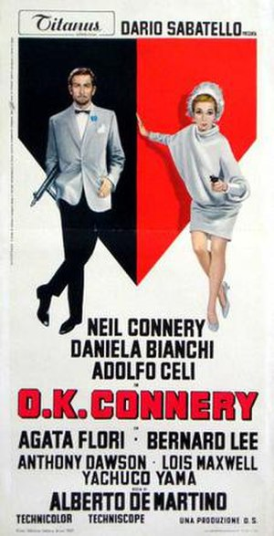 O.K. Connery - Italian film poster