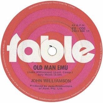 Old Man Emu - Image: Old Man Emu by John Williamson 1970 single