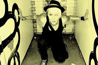 Otep - Otep's lead vocalist, Otep Shamaya, on the streets of Los Angeles