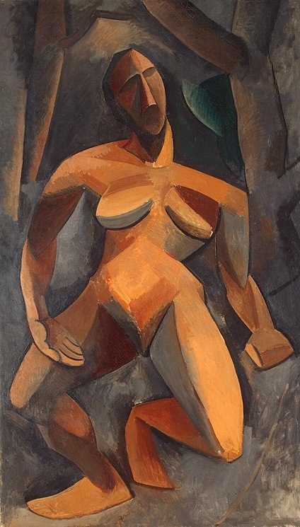 Pablo Picasso, 1908, Dryad, oil on canvas, 185 x 108 cm, The State Hermitage Museum, St Petersburg