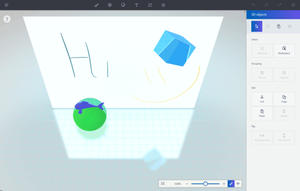 Paint 3D - Screenshot of Paint 3D showing off 2D and 3D features.