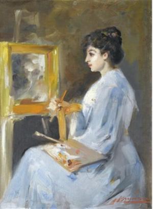 Sophia Laskaridou - Portrait of Sophia Laskaridou by Spyros Vikatos