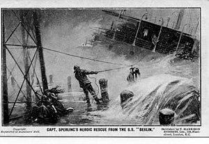 SS Berlin (1894) - Rescue of survivors from SS Berlin.