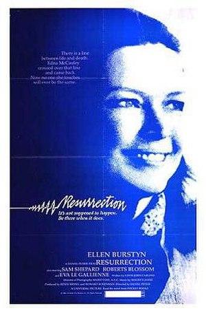 Resurrection (1980 film) - Promotional poster for Resurrection