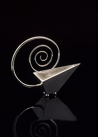 Kevin O'Dwyer (silversmith) - Sauce boat, forged and worked from sterling silver