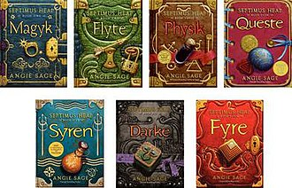 Septimus Heap - The cover art for all seven main titles in the series