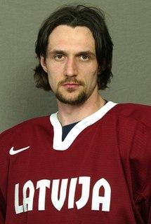 Sergejs Žoltoks Latvian professional ice hockey centre