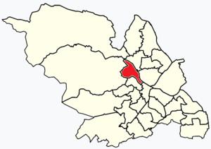 Hillsborough (ward) - Image: Sheffield wards Hillsborough