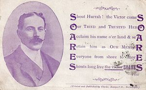 Barnstaple (UK Parliament constituency) - Soares election card