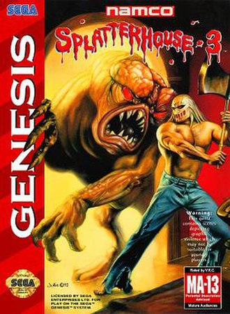 Splatterhouse 3 - Packaging for the North American Genesis version.