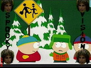 """Spookyfish - A frame from the South Park episode """"Spookyfish"""" showing 'Spooky Vision' being used."""