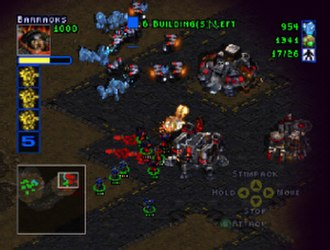 StarCraft (video game) - StarCraft 64 featured a lower resolution than the PC version, and a redesigned interface for the gamepad.