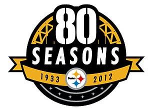 2012 Pittsburgh Steelers season - Steelers 80th Anniversary Logo
