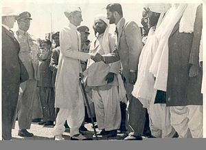 Bugti, meeting with Muhammad Ali Jinnah.