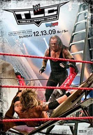 TLC: Tables, Ladders & Chairs (2009) - Promotional poster featuring Edge and The Undertaker