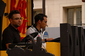Technoparade - DJ's deliver a constant stream of music from the parade trucks.