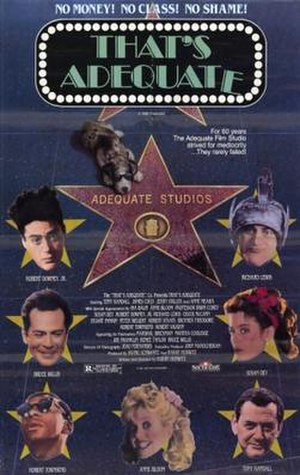 That's Adequate - Image: That's Adequate Film Poster