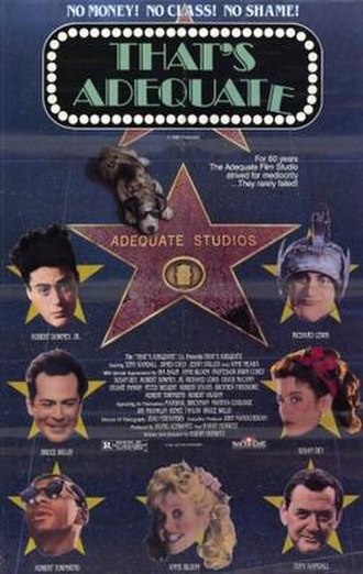That's Adequate - Theatrical release poster