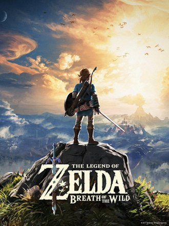 The Legend of Zelda: Breath of the Wild - Primary packaging artwork, depicting Link overlooking Hyrule