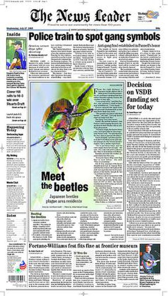 The News Leader - Image: The News Leader front page