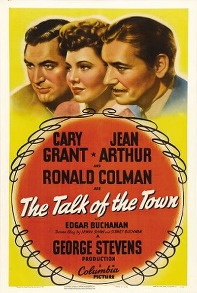 Picture of a movie: The Talk Of The Town