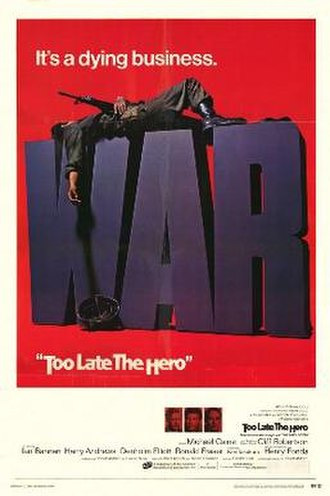 Too Late the Hero (film) - Theatrical release poster