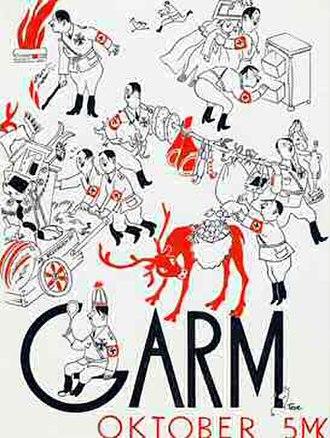 Tove Jansson - Image: Tove Jansson cover of Garm magazine October 1944