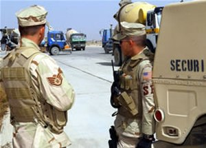 Air Base Ground Defense - USAF Security Forces on duty at Bagram AB, Afghanistan
