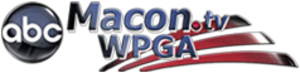 "WPGA-TV - WPGA-TV's logo as ""ABC Macon"", used from July 2007 to November 2009; the station's current logo is based on this design. For a time after this logo was dropped, the station's website used a modified version of this logo that omitted the ABC logo."