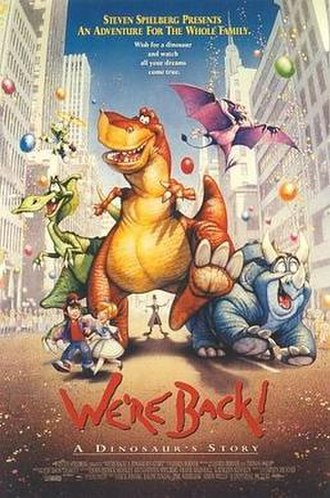 We're Back! A Dinosaur's Story (film) - Theatrical release poster by Drew Struzan