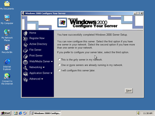 Windows 2000 Personal computer operating system by Microsoft released in 1999