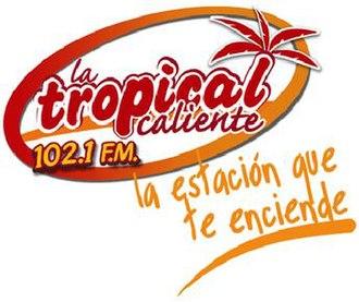 XHVC-FM - Image: XHVC Latropical Caliente 102.1 logo