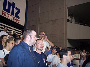 Bleacher Creatures - Bald Vinny, calling out the center fielder's name to begin the Roll Call.