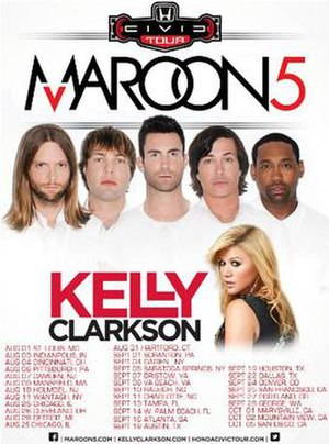 12th Annual Honda Civic Tour - Promotional poster for tour