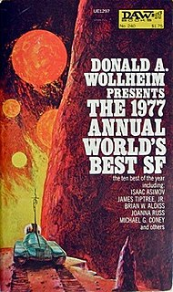 <i>The 1977 Annual Worlds Best SF</i> book by Donald A. Wollheim