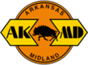 Arkansas Midland Railroad (1992) - Image: Arkansas Midland Railroad logo