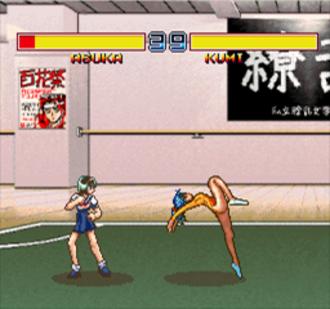 Asuka 120% Burning Fest - Asuka vs. Kumi in the original FM Towns version