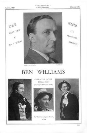 Ben Williams (actor) - Ben Williams in The Spotlight (1939)
