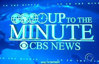 """CBS Overnight News - Former """"Up to the Minute"""" title card."""