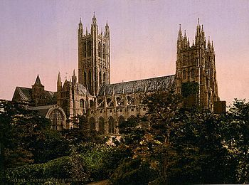 Canterbury Cathedral. View from the north west...