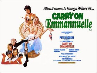 <i>Carry On Emmannuelle</i> 1976 british erotic film comedy by Gerald Thomas