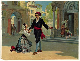 Cavalleria rusticana - Santuzza pleads with Turiddu that he not go to meet with Lola again.
