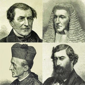 Benjamin Disraeli - Clockwise from top left: Chelmsford, Cairns, Hunt and Manning