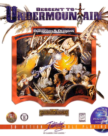 Descent to Undermountain box cover