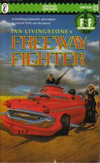 Freeway Fighter - The original Puffin Books cover (1985)
