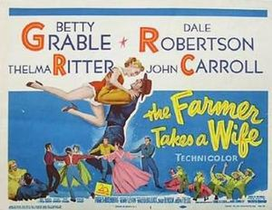 The Farmer Takes a Wife (1953 film) - Image: Farmerwife