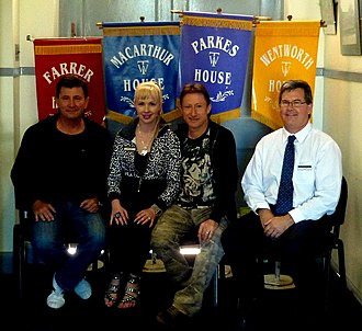 West Tamworth, New South Wales - Image: Former Students With Tamworth West Public School House Banners